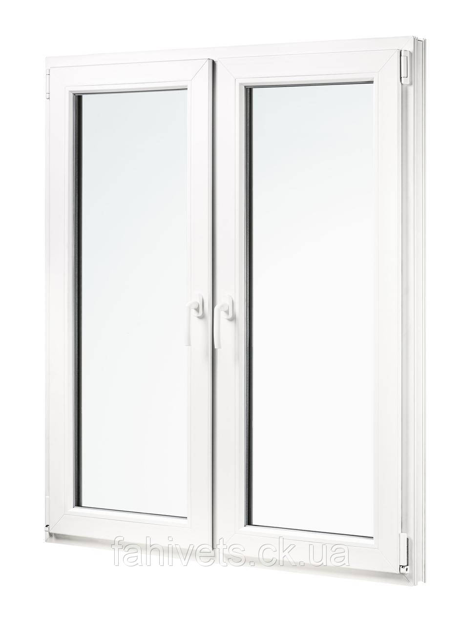 """Окна типа """"Эконом"""" из профиля WDS 5S, с двукамерным энергосберегающим стеклопакетом,размеры (1300х1400)"""