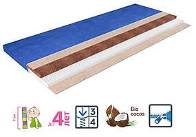Детский матрас Latex Comfort Red/Blue / Латекс Комфорт с непромокаемым чехлом и двойным наполнением из латекса