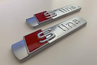 Эмблема шильдик значок Audi S-Line на крыло (мат)