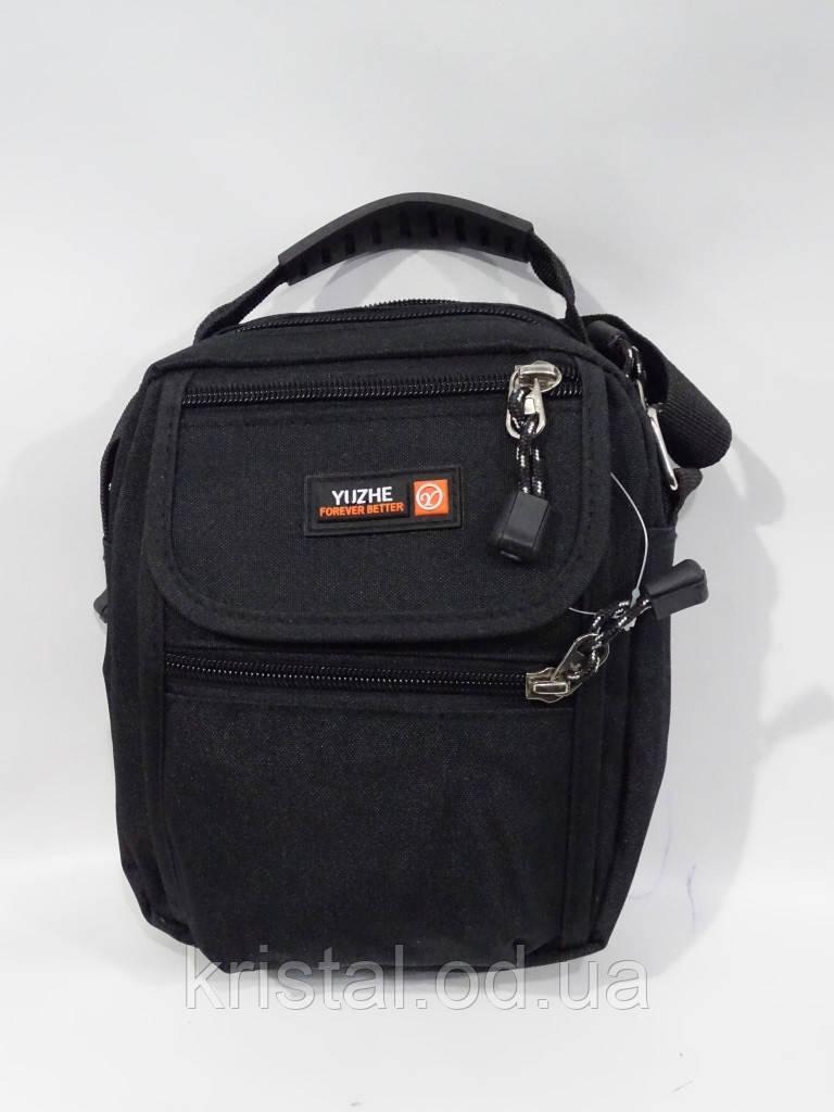 """Мужская текстильная сумка на плечо 16*19 см. серии """"Premium"""" №4978"""