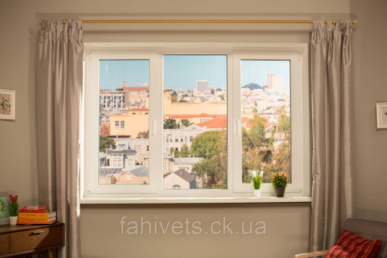 """Окна типа """"Эконом"""" из профиля WDS 5S, с двукамерным энергосберегающим стеклопакетом,размеры (2100х1400)"""