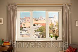 """Вікна типу """"Економ"""" з профілю WDS 5S, з двокамерний енергозберігаючим склопакетом, розміри (2100х1400)"""