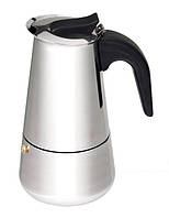 Кофеварка гейзерная из нержавейки на 6 чашек Empire ЕМ9554