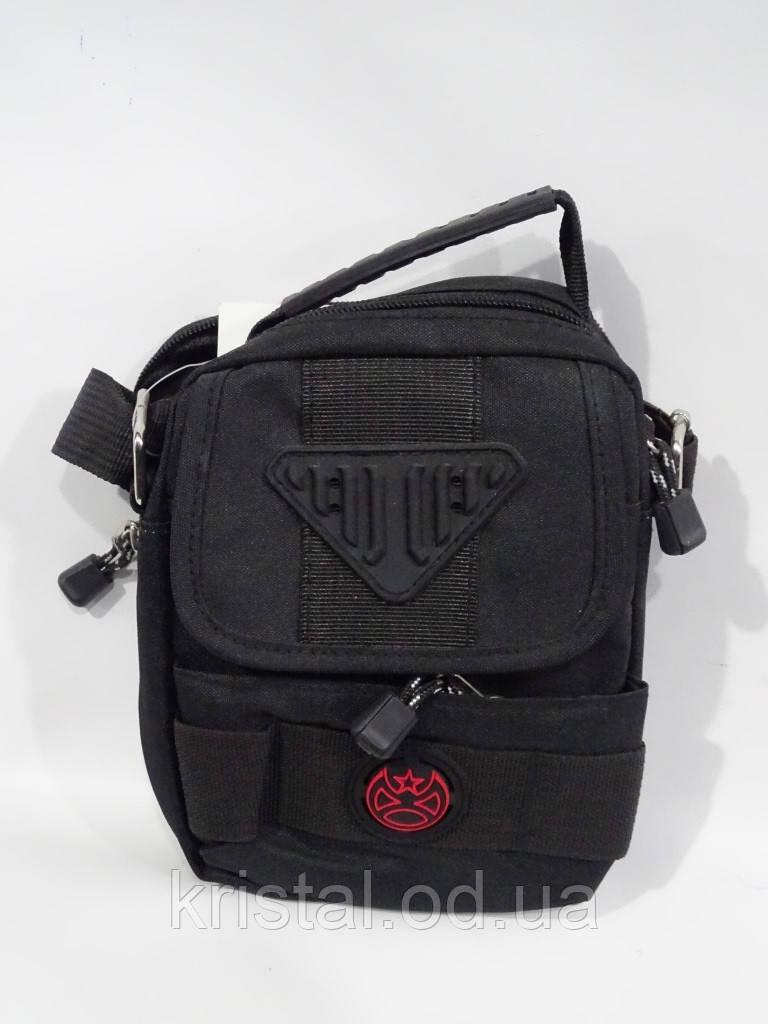"""Мужская текстильная сумка на плечо 14*18 см. серии """"Premium"""" №4980"""