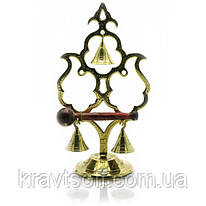 """Гонг бронзовый """"3 колокольчика"""" (22х12х8 см) (18319)"""