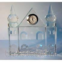 Дворец хрустальный с часами (12,5*12*2) (20270)