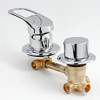 Змішувач для душової кабіни, гідробоксу G3-9 на 3 положення.