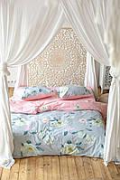 Комплект постельного белья Prestige Лотос серо-розовый полуторный SKL29-250700
