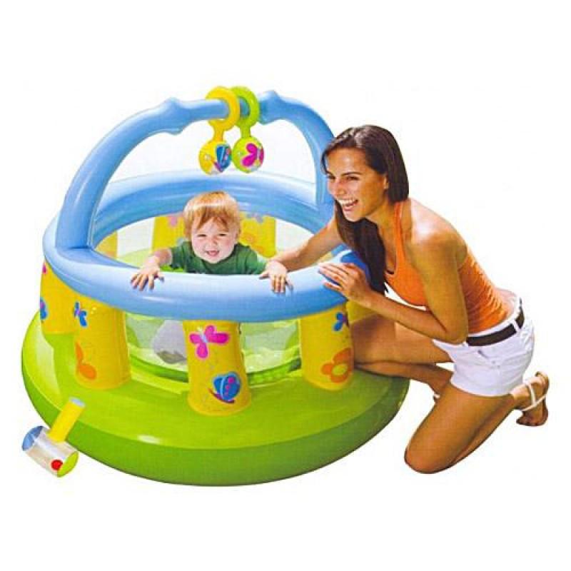 Манеж детский М48474 надувной, круглый, 130-104см