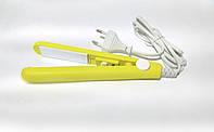 Утюжок для волос дорожный в футляре 220v GM 2990 желтый