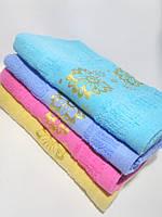 """Махровое банное полотенце """"Цветы"""" 135*70см, фото 1"""