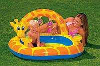 Надувной детский бассейн с погремушками Жираф Intex 57404NP Giraffe Splash Baby Pool