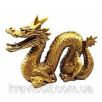 "Дракон с рогом каменная крошка ""бронза"" (19х15 см) (21937A)"