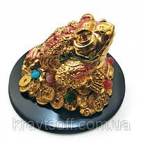 Жаба золотая на подставке (10х14х14 см) (2299)