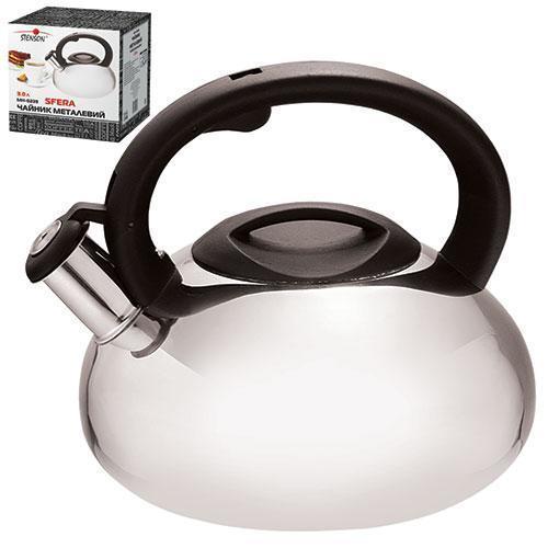 Чайник нержавейка свисток Stenson 3.0л литое дно МH-0239