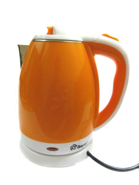 "Чайник электрический ""DOMOTEC"" 2,0L 1500W MS- 5022 Нерж+пластик Оранж"