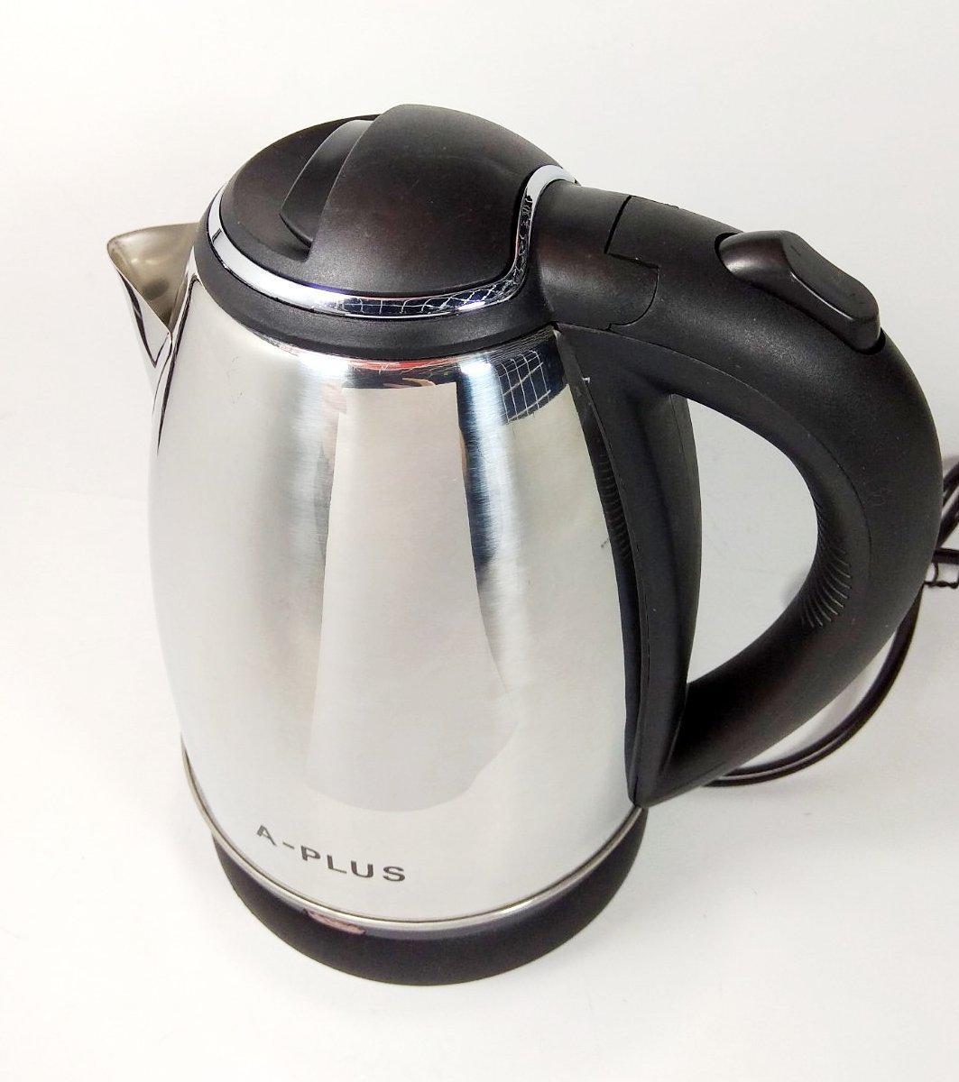 Чайник электрический А-Плюс 2141 1,8 L 1500 Вт нержавейка дисковый