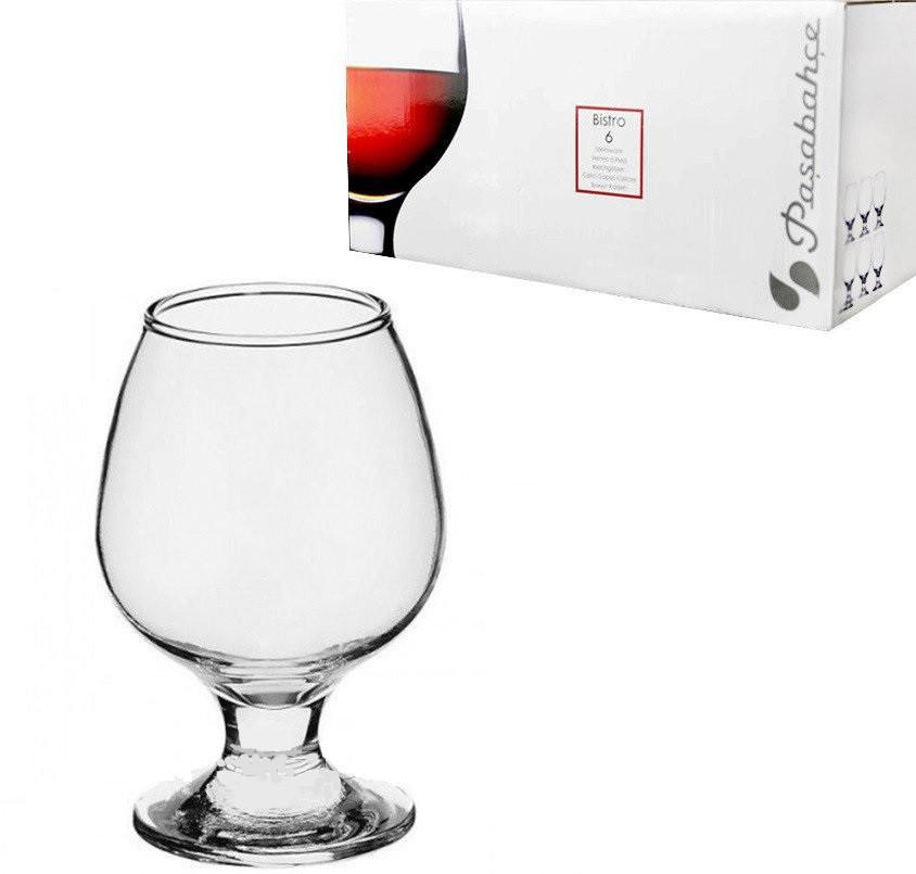 Набор бокалов для коньяка Pasabahce Bistro 6шт 250гр 44483