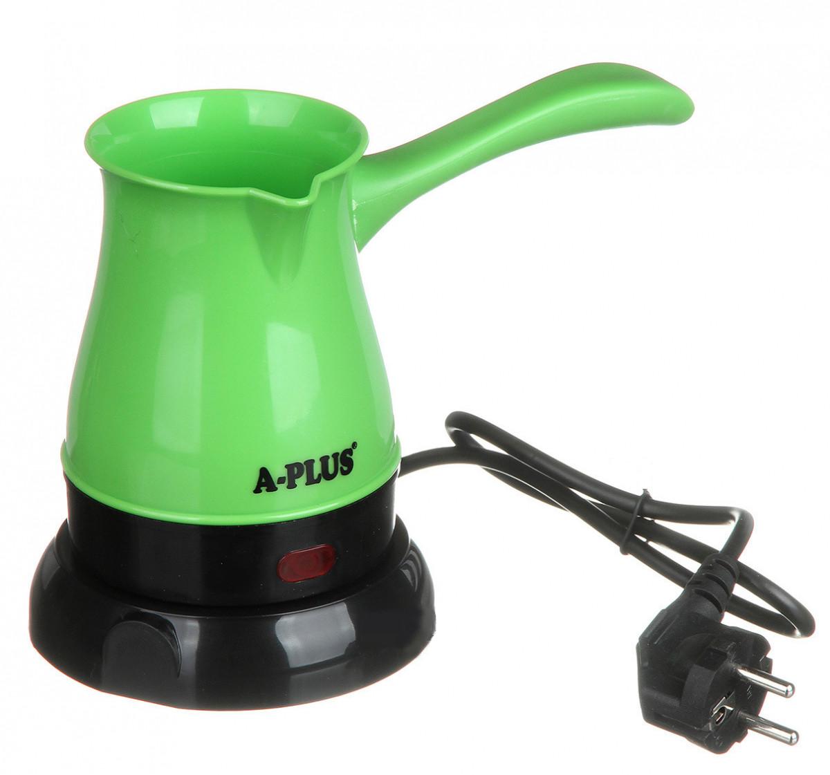 Электрокофеварка кофеварка электрическая турка электротурка розетка 220В 0,5L дисковый 600 Вт А-плюс Зеленый