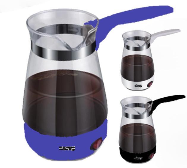 Электротурка стекло 0,7L электрокофеварка кофеварка электрическая турка 220В дисковый 600Вт Белый Фиолетовый