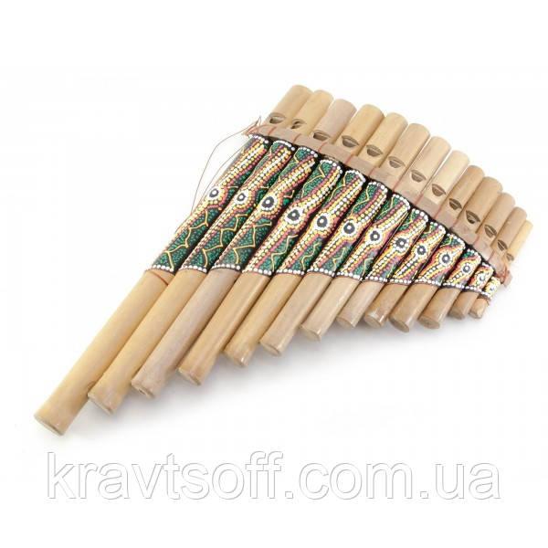 Флейта Пана расписная бамбук (27,5х18х5 см) (29874)