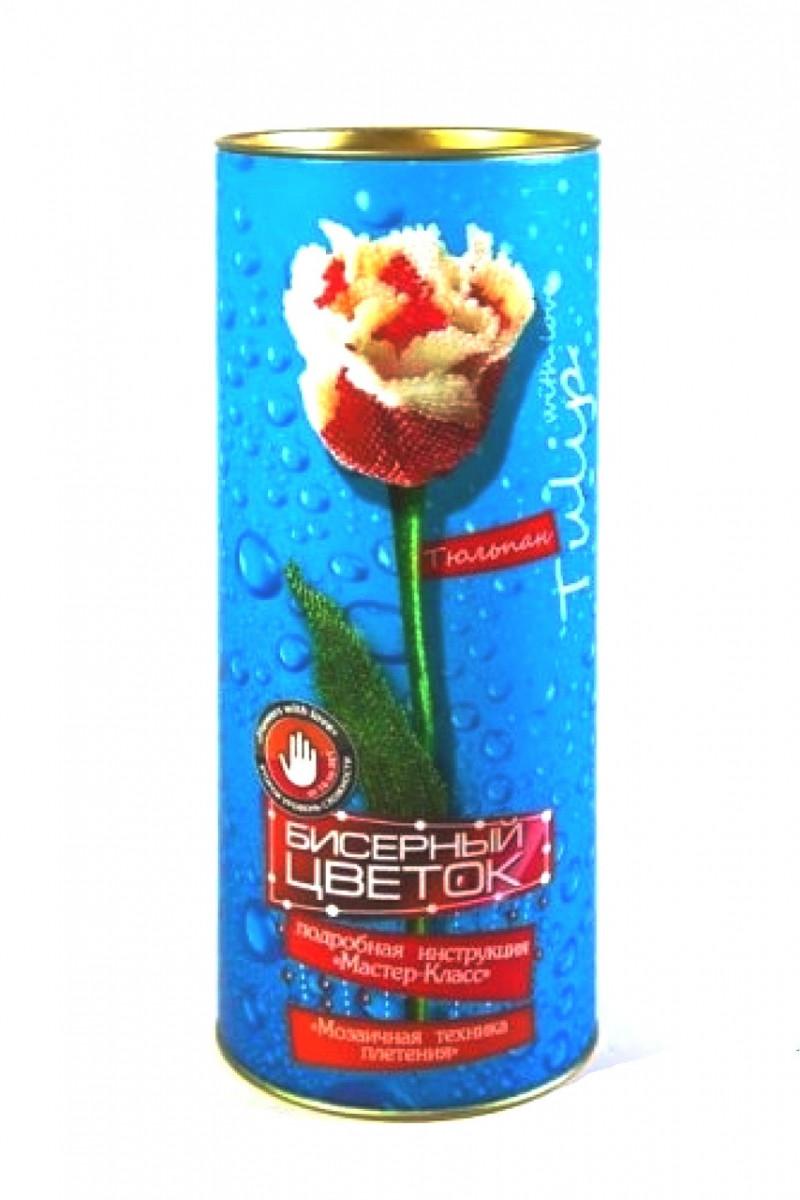 Набор для творчества Бисерный цветок тюльпан Бисероплетение подделки с бисера