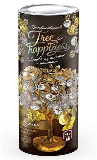 "Набор для творчества Дерево из паеток и бисера ""Tree of happiness"" денежное дерево"