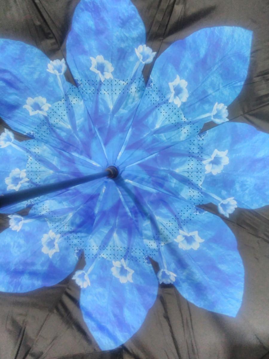 ✅Зонт smart Анти Зонт обратного сложения д110см 8 спиц умный зонт зонт наоборот UP-BRELLA UN-unbrella голубой