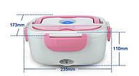 ✅Ланч бокс Розовый судочек термос пищевой электрический с подогревом от 220V Electric Lunch Box 3166YY/ 220V, фото 1