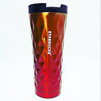 ✅Термокружка Starbucks Старбакс Градиент EL-276 500 ml Золото/карамелью, фото 1
