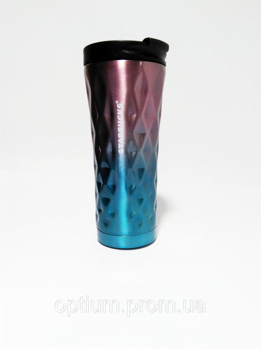 ✅Термокружка Starbucks Старбакс Градиент EL-276 500 ml Фиолетовый/голубой