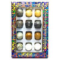 Каменные шары набор (н-р/12шт) (d-3,5 см) (27х18х3,5 см) (26500)