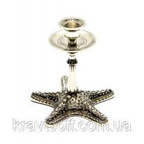 "Подсвечник бронзовый ""Морская звезда"" (12,5х12,5х12 см) (26604)"