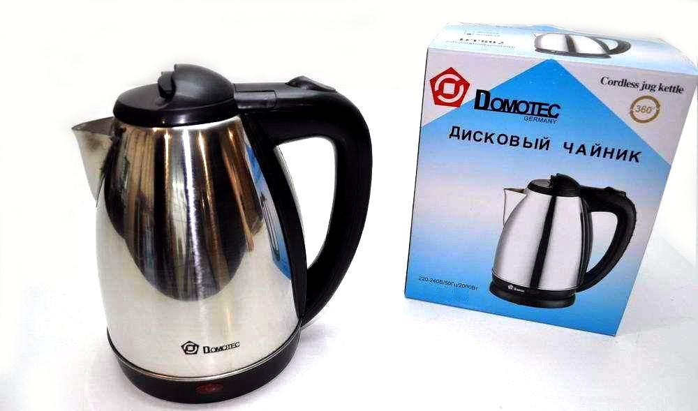 ✅Электрочайник DOMOTEC Домотек MS-5005 / 5001 2 Литра нержавейка 1500 - 2000 Wt