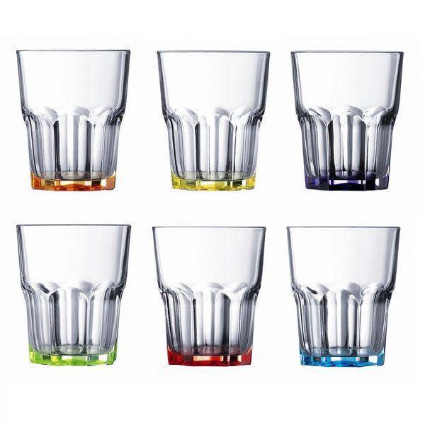 Набор стаканов низкие LUMINARC Брайт Колорс- Новая Америка 270мл -6шт. J8933