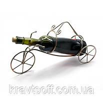 """Подставка для бутылки """"Велосипед"""" металл (39х21х11 см) (25362)"""