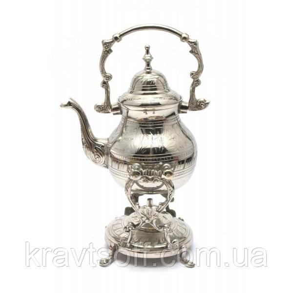 """Чайник бронзовый с горелкой на подставке""""Хром"""" (30,5х19х16 см) (29291)"""