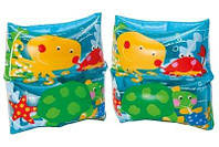 Нарукавники надувные Рыбки 59650 Интекс 19-19см, 3-6лет, 2шт в кульке, 16-25-1см