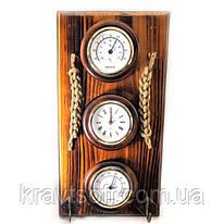 Ключница с часамитермометром и психрометром (28х15х5 см) (22024)