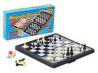 Настольная игра шашки шахматы нарды 3в1 магнитные доска 20 х 20см гра настільна шахи