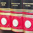 """Книги в шкіряній палітурці """"Історія великих подорожей"""" Жюль Верн (3 томи), фото 3"""