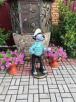 """Садовая фигура Волк """"Ну погоди"""". садово-парковые сказочные персонажи."""