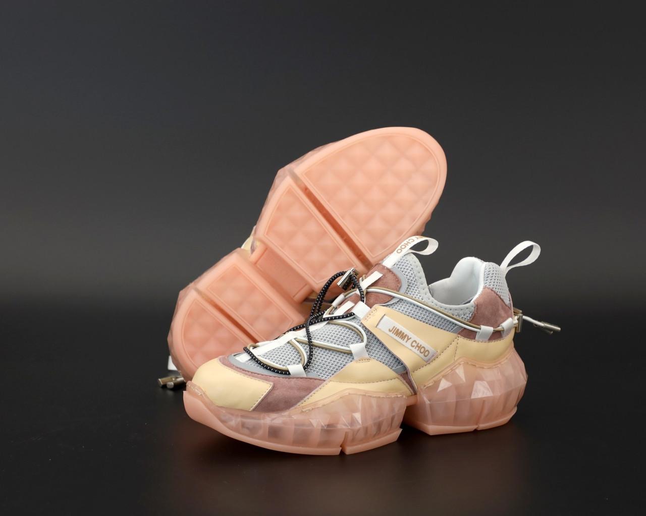 Женские кроссовки Jimmy Choo Diamond Trail Pink, женские кроссовки Джимми Чу, жіночі кросівки Jimmy Choo
