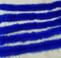 50г Боа из пуха марабу Синий 2м