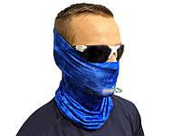 "Бафф Kosadaka Ice Silk Sunblock ""SNAKE SKIN"" UV захист від сонця синій"
