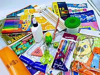 Школьный набор канцтоваров для девочки/мальчика Стандарт +, 28 предметов+слайм в подарок
