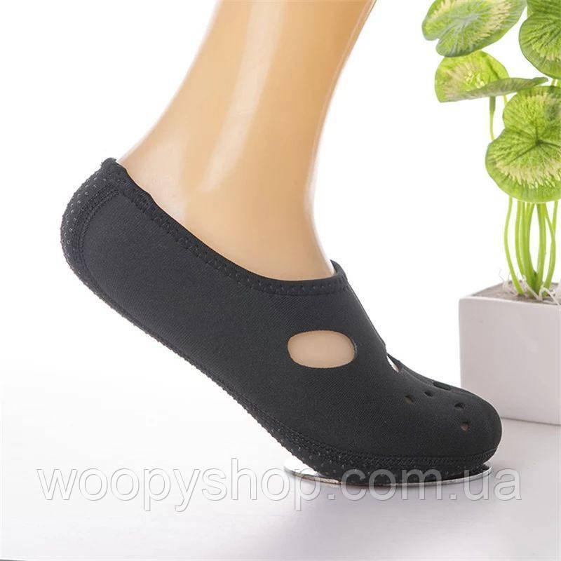 Носки, обувь для пляжа, дайвинга черные L (39-40)