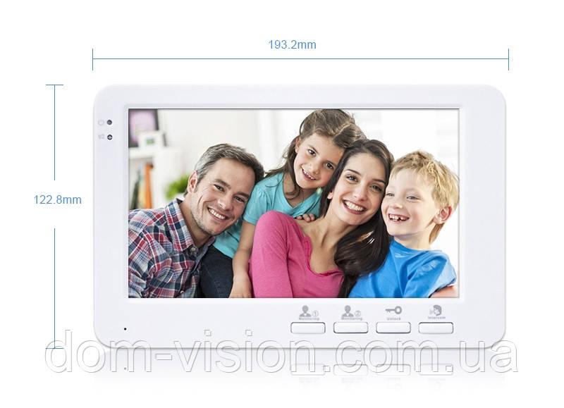 Видеодомофон DOM AHD 7SM + панель вызова DOM AHD CS01