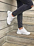 Женские кроссовки Nike Tekno M2K в стиле найк м2к БЕЛЫЕ (Реплика ААА+), фото 4