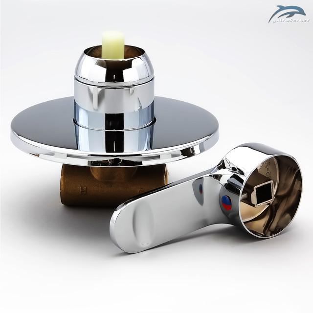Смеситель для скрытого монтажа SV-01.1 используется для комплектации гигиенического душа, душевых систем с одним действующим устройством функционала.